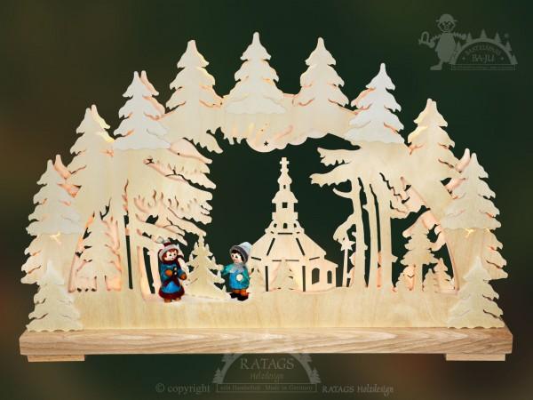 Schwibbogen Weihnachtssingen, Weihnachten, echt Erzgebirge