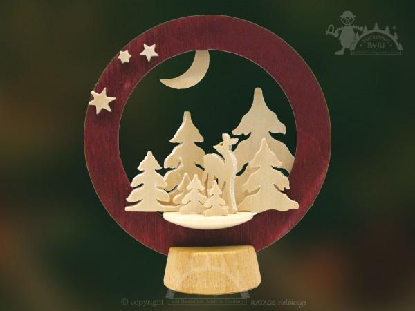 Tischschmuck Reh, Deko, Weihnachten, echt Erzgebirge