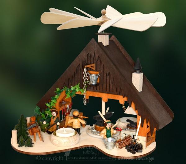 Hauspyramide Schmiede, Deko, Weihnachten, echt Erzgebirge