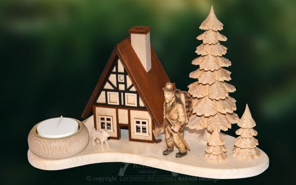 Raeucherhaus Waldmann, Deko Weihnachten, echt Erzgebirge