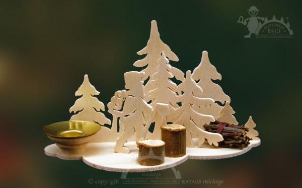 Tischschmuck Waldarbeiter Deko Weihnachten, echt Erzgebirge