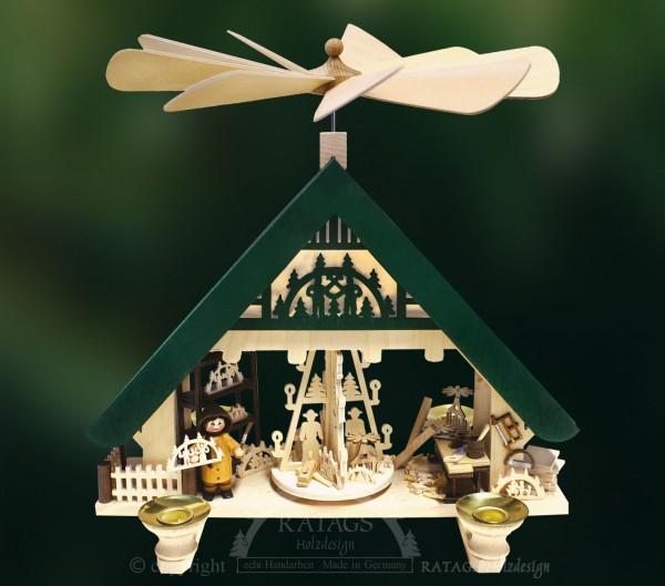 Hauspyramide Kunsthandwerk, Weihnachten, echt Erzgebirge