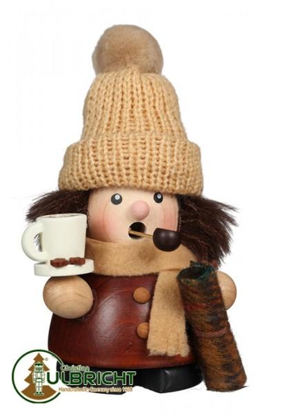 Räuchermann mit Tee und Kuscheldecke