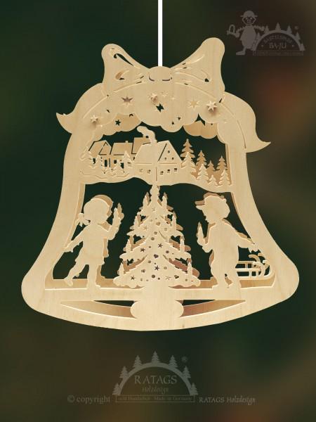 Fensterbild, Weihnachten, Christbaum, Erzgebirge