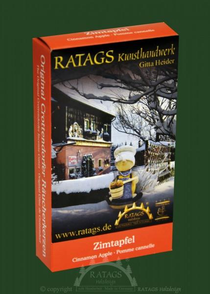 Raeucherkerzen, Zimtapfel, Weihnachten, echt Erzgebirge