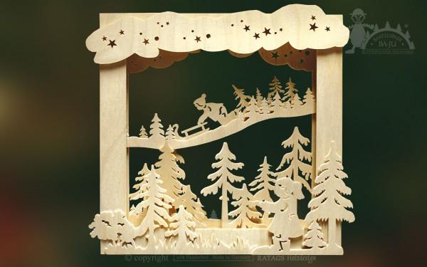 Bilderrahmen, Winter, 3D, Bastel, Deko