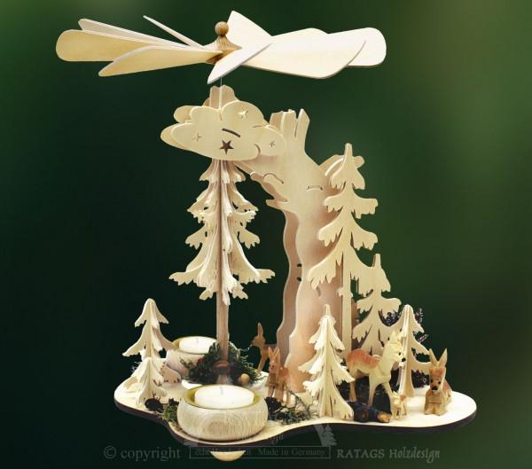 Tannenpyramide, Deko, Weihnachten, echt Erzgebirge