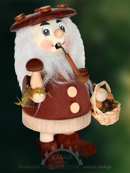 Raeuchermann Pilze, Deko, Weihnachten, echt Erzgebirge